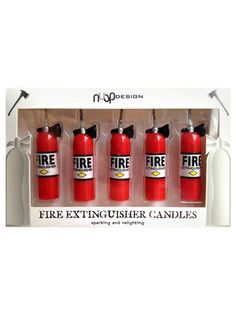 Picture of fire-extinguisher-candles-I might have to do a fire truck party just to use these!  $8.99