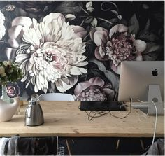 A great way to add style to your office space. Ellie Chasman Design's Wallpaper.