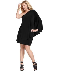 MICHAEL Michael Kors Plus Size Dress, One-Shoulder Draped - Plus Size Dresses - Plus Sizes - Macy's