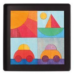 Magnet Puzzle Cars, Boat & Sun