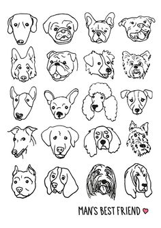 Check out Man's Best Friend in the Creative Safari Competition. Doodles, Desenho Tattoo, Line Drawing, Dog Face Drawing, Dog Drawing Simple, Dog Illustration, Dog Tattoos, Animal Drawings, Dog Drawings