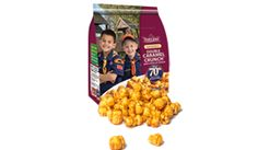 Support the Boy Scouts of America. A unique twist on an old classic, our Cheddar Cheese Corn now comes double wrapped in a delicious caramel coating creating a sweet and salty treat. Use ID 8918318, to support my grandson.  You can also make a donation to our US Troops.