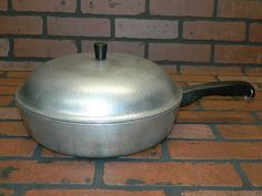 Vintage CLUB Hammered Aluminum 12 INCH Frying Pan Skillet with Lid Kitchenware