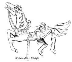 Carousel Horse By Wolf Guardian