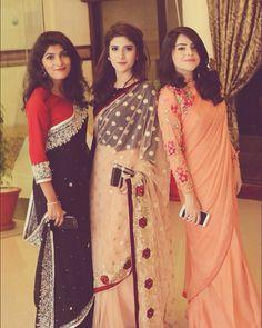 Saree for farewell Desi Clothes, Indian Clothes, Indian Outfits, Pakistani Dresses, Indian Sarees, Farewell Sarees, Sari Dress, Saree Styles, Designer Sarees
