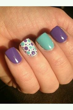Purple teal dots