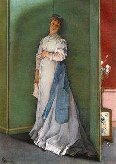 L'Emotionnée (Alfred Émile Léopold Stevens - 1867)