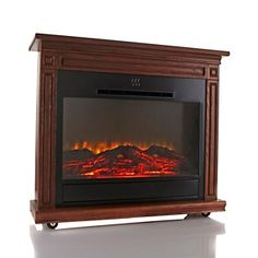 Heat Surge Roll N Glow™ Amish Made LED Fireplace At HSN.