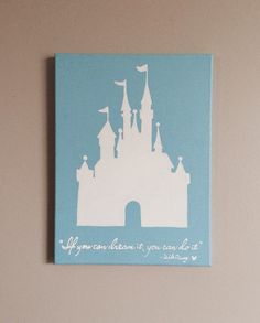 Disney's Cinderella Castle Canvas Painting // Home by signsbyColin