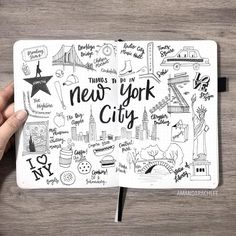 """23k Likes, 173 Comments - AmandaRachLee (@amandarachdoodles) on Instagram: """"Recently I went to New York City and fell in love with it! I'm actually going back there this…"""""""