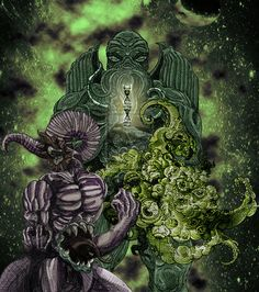 Cthulhu, Nyarlathotep, and Yog-Sothoth  This composition is part of something much bigger...