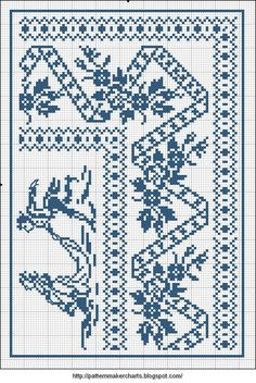 Free Easy Cross, Pattern Maker, PCStitch Charts + Free Historic Old Pattern Books: Sajou No 658