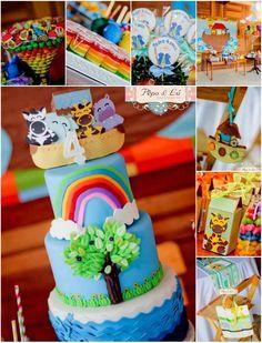 Noah's Ark Party Full of DARLiNG IDEAS via Kara's Party Ideas Kara'sPartyIdeas.com #NoahsArk #Zoo #Safari #PartyIdeas #Supplies