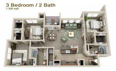 three bedroom apartments - Buscar con Google