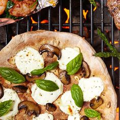Grilled Mushroom and Ricotta Pizza yum