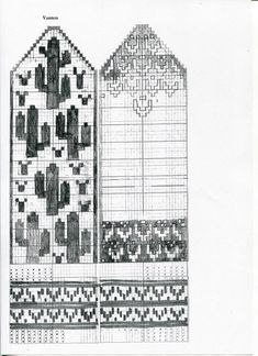 Elizabet Christiansson – Dela dina vantar! Knitted Mittens Pattern, Easy Knitting Patterns, Knit Mittens, Knitting Charts, Knitting Projects, Cross Stitch Patterns, Cactus, Fair Isle Pattern, Fair Isle Knitting