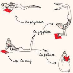 Les 6 Positions pour lire (en francais) via my little book club