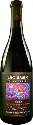 2009 Big Basin Vineyards Woodruff Vineyards Pinot Noir. A sensational potpourri of fresh cut forest boughs, earthy porcinis, punchy pomegranate and a texture as lush as red velvet cake with cream cheese frosting...