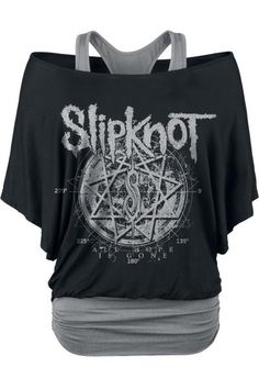 Slipknot Star Symbol Girls shirt black-grey S Slipknot… Band Shirt Outfits, Emo Outfits, Band Shirts, Tomboy Outfits, Emo Fashion, Gothic Fashion, Fashion Outfits, Latex Fashion, Steampunk Fashion