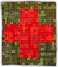 Eleanor McCain - Art Quilts: Galleries - Nine Patch/Cross Series Eleanor Mccain, Gees Bend Quilts, Cross Quilt, Sign Of The Cross, Modern Quilt Patterns, Composition Design, Colorful Quilts, Bee Art, Contemporary Quilts