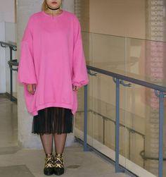 Stars & Pink. Oversized Sweatshirts Dress with Fleece on www.yeseoul.com