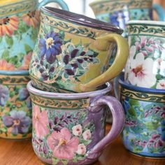 Sandy Kreyer Handpainted Mugs...♥♥...