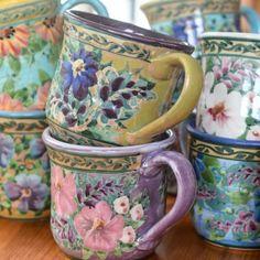 Sandy Kreyer Handpainted Mugs...♥♥...