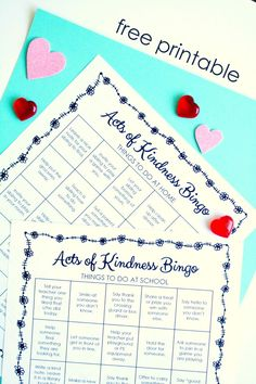 Free Printable Acts of Kindness Bingo for Home and School