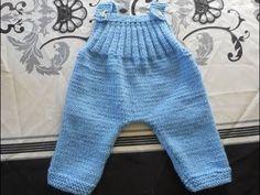 tuto tricot salopette bébé - YouTube