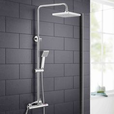 IN STOCK: best prices on SWAN SQUARE THERMOSTATIC DUAL CONTROL BAR SHOWER MIXER - choose between 120 Shower riser kit