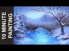 Painting an African Landscape with Acrylics in 10 Minutes! - YouTube