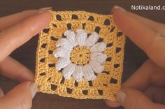 This beautiful crochet cord pattern is based on a lush lace ribbon. It is a popular crochet project because it beautifies objects and accessories. Crochet Flower Squares, Crochet Flower Patterns, Crochet Blanket Patterns, Crochet Motif, Crochet Flowers, Crochet Stitches, Crochet Beret, Crochet Cardigan, Dress Patterns