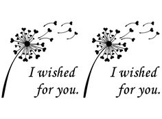 """Dandelion I Wished for You 2-1/2"""" Black Fused Glass Decals"""