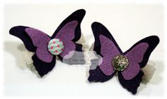 Felt Hair Barrettes