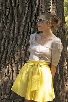 Yellow-vintage-skirt