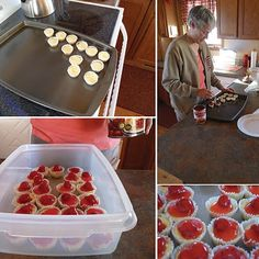 the smartest and his artist: DIY: Wedding Food- Miniature Cheesecakes