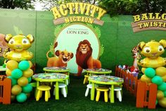 Lion King birthday party! See more party planning ideas at CatchMyParty.com! Animal Themed Birthday Party, Lion King Birthday, 1st Birthday Themes, Prince Birthday, Baby 1st Birthday, Birthday Parties, Lion King Theme, Lion King Party, Safari Party
