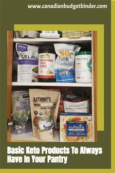 Don't waste money on Keto products you don't need. This is a basic list of keto diet products that we stock in our pantry so we can bake keto recipes and prepare keto dishes. #keto #ketoeducation Keto Diet For Beginners, Recipes For Beginners, Low Carb Keto, Low Carb Recipes, Diet Products, Organic Coconut Milk, Budget Binder, Keto Drink, Keto Dinner