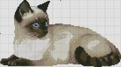 Cat Cross Stitches, Cross Stitch Charts, Cross Stitch Designs, Cross Stitching, Cross Stitch Patterns, Cross Stitch Alphabet, Cross Stitch Animals, Blackwork Embroidery, Cross Stitch Embroidery