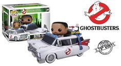 Ghostbusters Winston Zeddemore and Ecto-1 Pop! Vinyl Vehicle