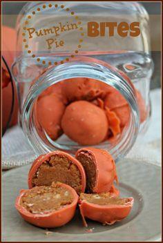 Pumpkin Pie Bites ~ Amazing Bite Sized Dessert | best stuff