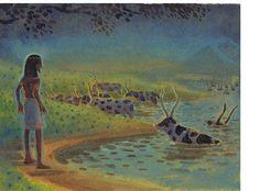 Original illustration by Kim Gamble from Joseph - 'The Dream'.