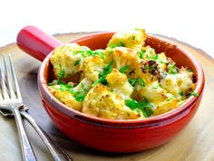 Make and share this Roasted Parmesan Garlic Cauliflower recipe from Food.com.