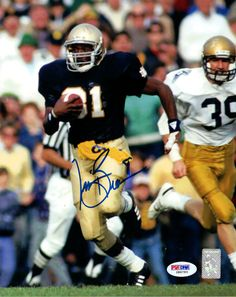 Tim Brown Autographed 8x10 Photo Notre Dame Fighting Irsh PSA/DNA #Z86793