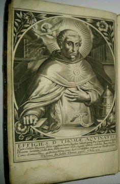 #OnThisDay in 1274 St. Thomas Aquinas Dies.   17th Century Summa Theologica Paris 1645 Folio Engravings Leather   eBay