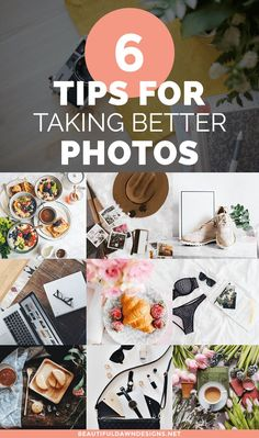 Incorporating images into your blog posts will improve the readability and search engine optimization (SEO) of your content. Here are six photography tips for taking better photos for your blog. #bloggingtips #photographytips #takebetterphotos via @tiffany_griffin