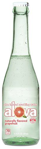 Alova Aloe Infused Sparkling Water Glass Bottle, Grapefruit, 11.16 oz., 9 Piece:   Alova is a unique, sparkling, refreshing drink made with aloe vera grown in the state of Campeche in the southeast region of Mexico. Alova contains 15% organic aloe vera juice and it has no artificial ingredients. Alova is flavored naturally and sweetened with real cane sugar. Once you try Alova, we think you'll agree it's a refreshing alternative to traditional sodas and waters. Once you try it, you'll ...