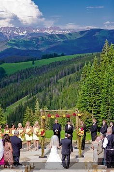 Beaver Creek Wedding Deck - really pretty place for a wedding