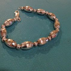 Stunning bracelet Sterling silver bracelet with solid beads.  8 inches in length. Jewelry Bracelets