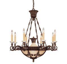 Savoy House 1-3411-8-56 Corsica 8 Light Chandelier in Ceiling Lights, Chandeliers, Indoor Chandeliers: ProgressiveLighting.com